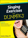 Singing Exercises For Dummies (eBook)